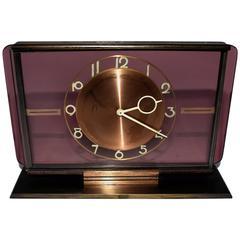 Art Deco Glass Clock by Kienzl