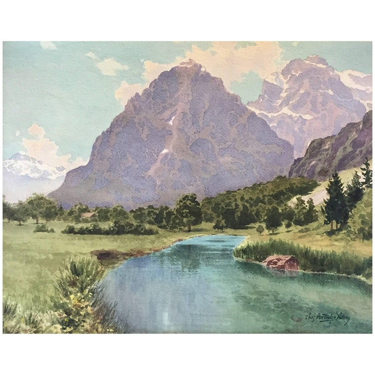 """""""Colorado Mountain Landscape"""" by Charles Partridge Adams For Sale"""