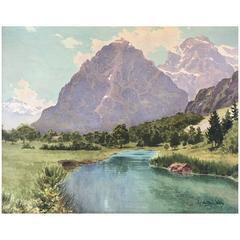 """Colorado Mountain Landscape"" by Charles Partridge Adams"