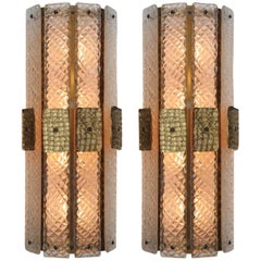 Pair of Mid-Century Modern Style Murano Glass Wall Sconces