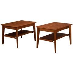 Vintage Pair of Teak Side Tables by Svend A. Madsen