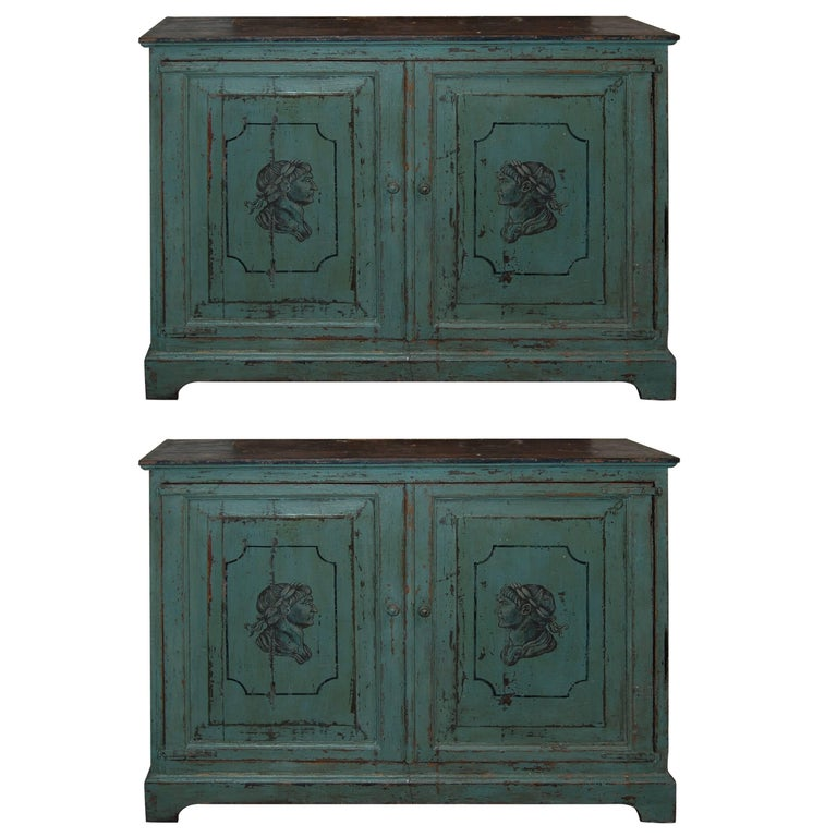 Pair of 19th Century Painted Buffets 1