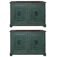 Pair of 19th Century Painted Buffets