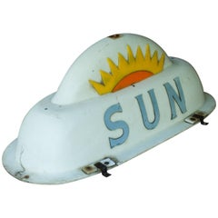 Vintage 1950s Baltimore Sun Taxi Cab Sign Car Topper