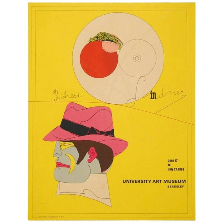 Richard Lindner U.C. Berkeley Exhibition Poster, 1969