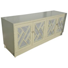 Faux Bamboo Chinese Chippendale Credenza Buffet Dresser Choice of Lacquer