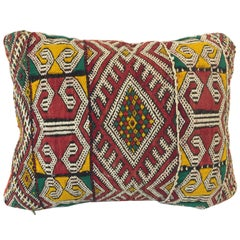 Moroccan Berber Tribal Pillow with African Designs
