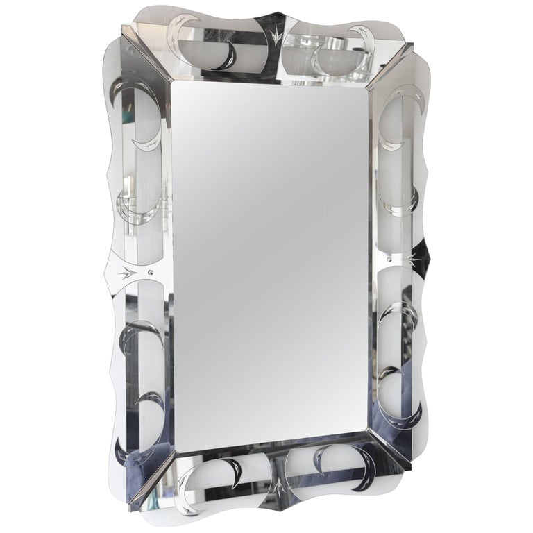 Large Hollywood Regency Mirror For Sale