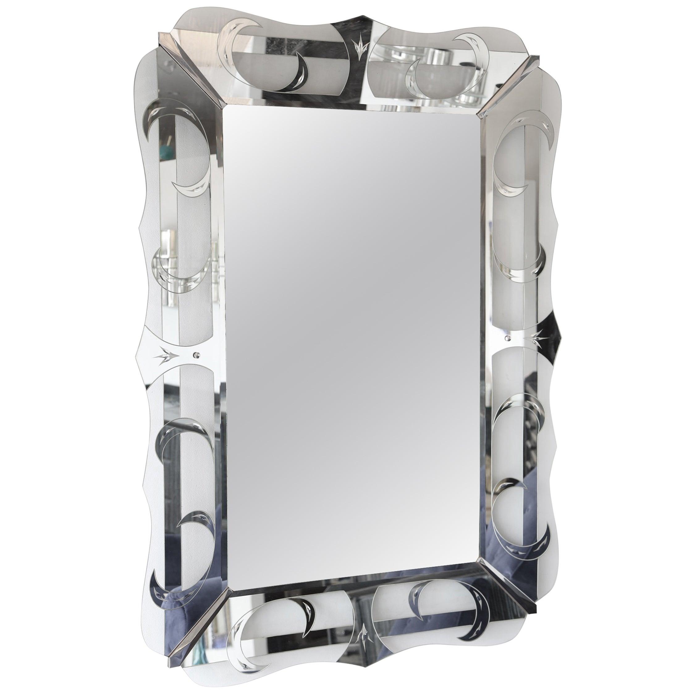 Large Hollywood Regency Mirror