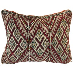 Moroccan Berber Pillow with Tribal Designs