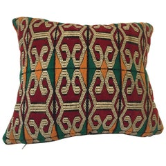 Moroccan Handwoven Pillow with Tribal African Designs
