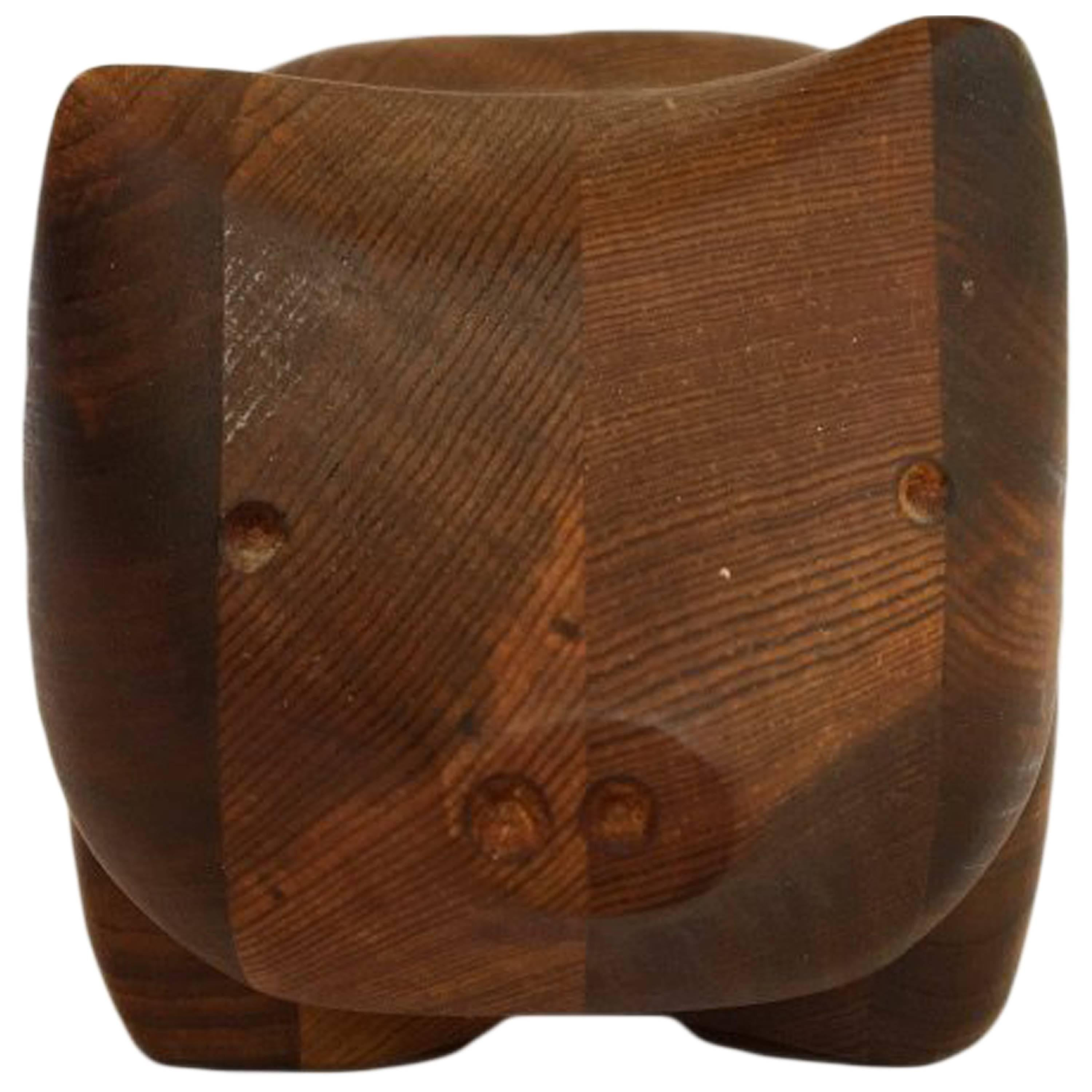 Small Teak Jewelry Box By Studio Artist Deborah Bump