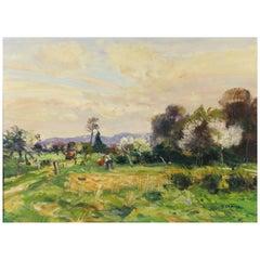 Landscape with Figures by Gaston Sebire