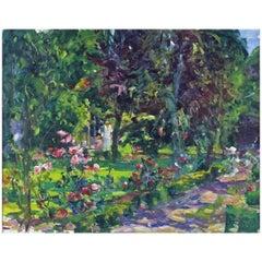 Figures in a Flowering Garden by Gaston Sebire