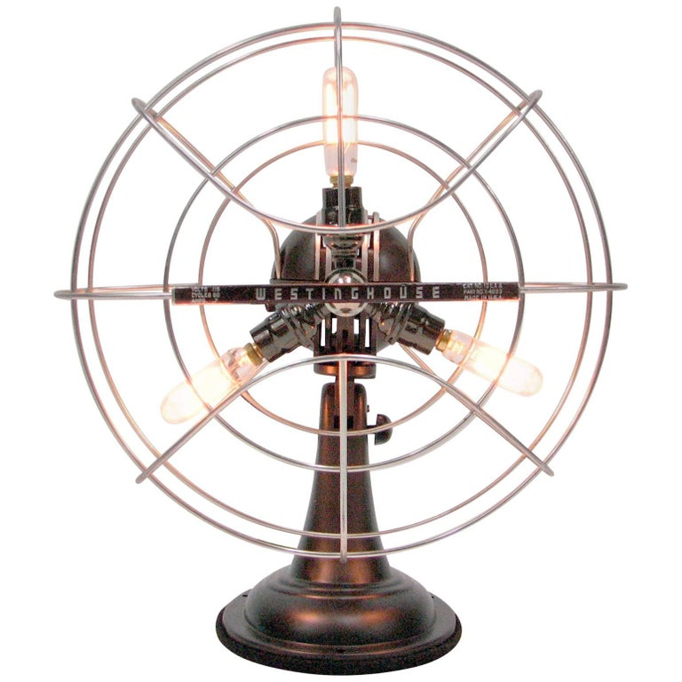 Westinghouse Catalog No. 12 LA 4 Fan Lamp For Sale