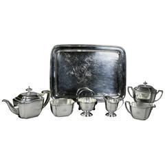 Tiffany & Company Sterling Six-Piece Tea Set