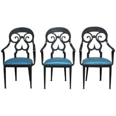 Set of Three Aluminum Armchairs by Veneman for Tropitone