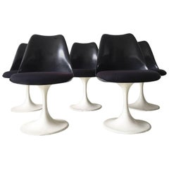 Black Pastoe Tulip Chairs by Eero Saarinen, 1960s
