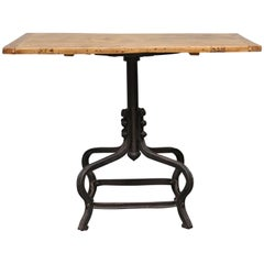 Small Table on a Cast Iron Foot, circa 1925