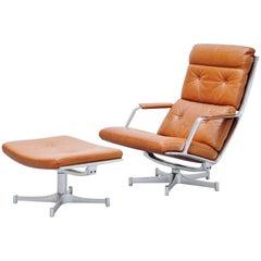 Preben Fabricius Jorgen Kastholm FK85 Lounge Chair Kill, 1963