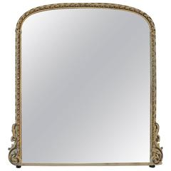 English 19th Century Parcel-Gilt and White Painted Overmantel Mirror