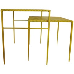 Documented Nesting Tables by Mathieu Mategot France, 1950s