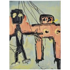 Robert Bakowski Painting Cobra Style, Belgium, 2001