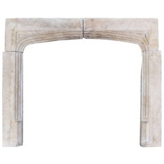 19th Century Cotswold Limestone Fire Surround
