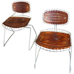 Fantastic Pair of Michel Cadestin Beaubourg Chairs, circa 1970