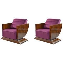Italian Art Deco Armchairs