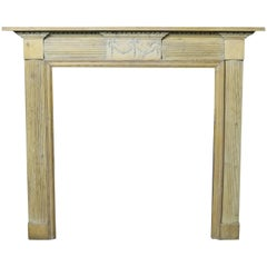 19th Century Carved Pine Fire Surround