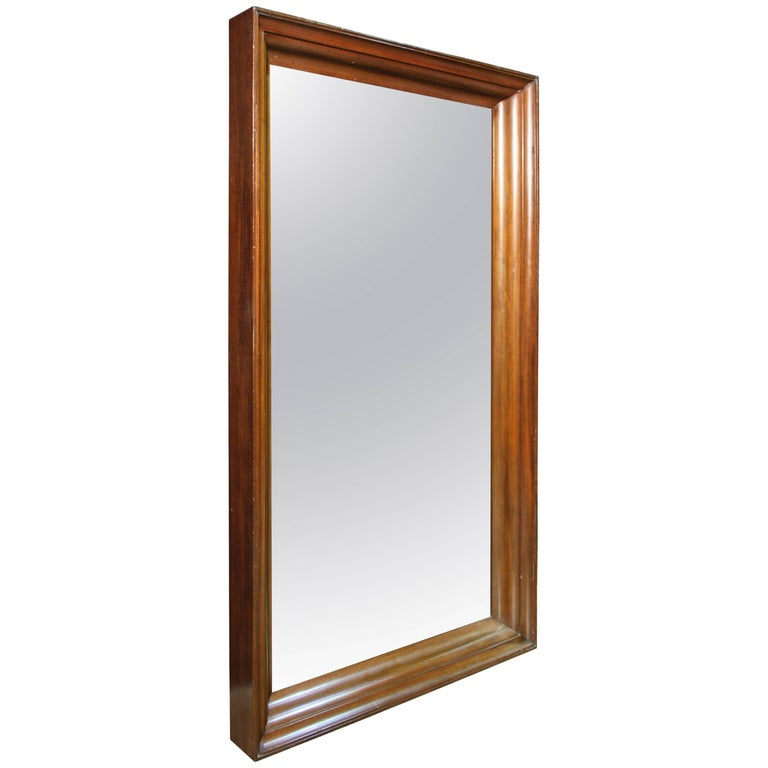 Large hardwood mirror frame for sale at 1stdibs for Big mirrors for sale