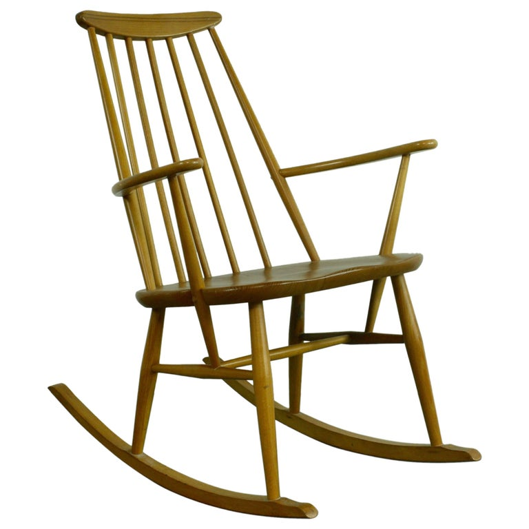 Vintage Midcentury Ercol Rocking Chair For Sale At 1stdibs