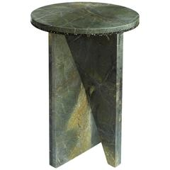Vitoria Regia Granite and Spider Green Marble Side Table by Jonathan Zawada