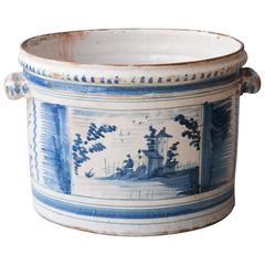18th Century Blue and White Faience 'Pot a Oranger' Nevers, France