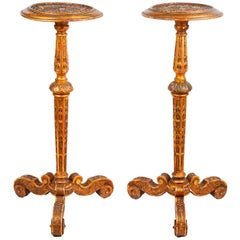 Pair of Carved Gilded Torchas, 19th Century