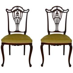 Pair of 19th Century Mahogany Side Chairs