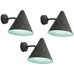Hans-Agne Jakobsson Copper Wall Lights, 1950s