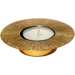 Brass Cast Sun Tealight Holder