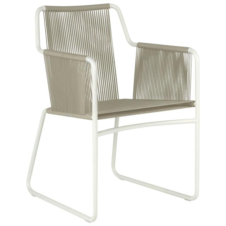 Roda Harp Dining Chair with Arms for Outdoor/Indoor Use in 5 Color Combinations For Sale