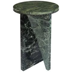 Green Marble Side Table by Jonathan Zawada, Made in USA