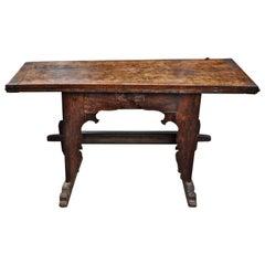 Late 17th Century Italian Walnut Fold over Top Dough Table