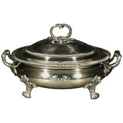 Very Fine & Large Georgian 'Old Sheffield Plate' Lidded Soup Tureen, circa 1800