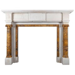 Antique Sienna Marble Fireplace