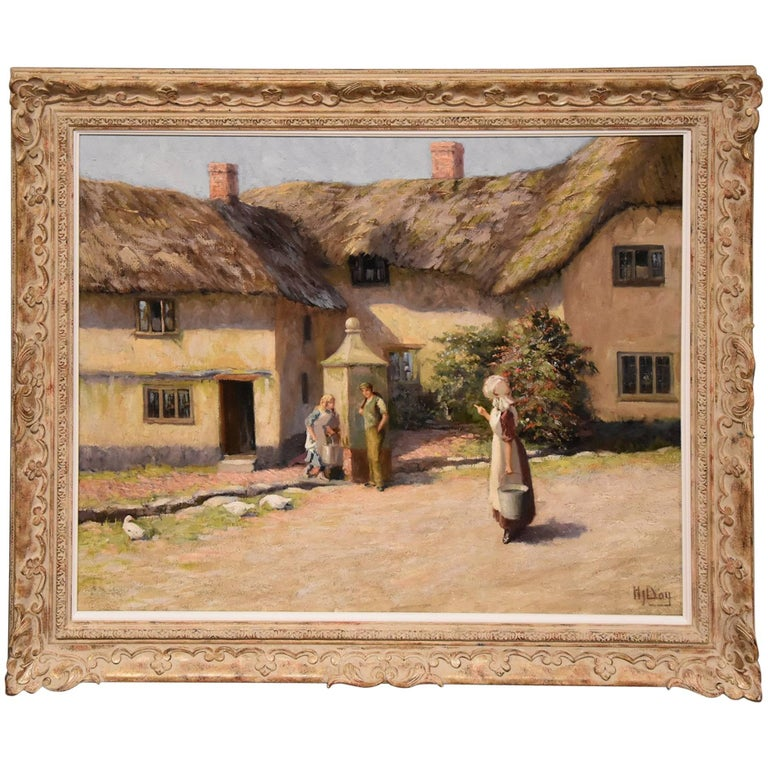 """""""Shephards Cottages Beer Devon"""" by Herbert John Day"""