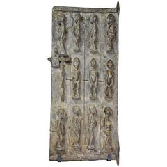 Large African Bambara Doors with Carved Nommo Ancestor Figures