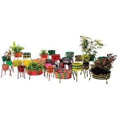 Jardin Suspendu Set of 4 Woven Baskets / Planters for Indoor and Outdoor