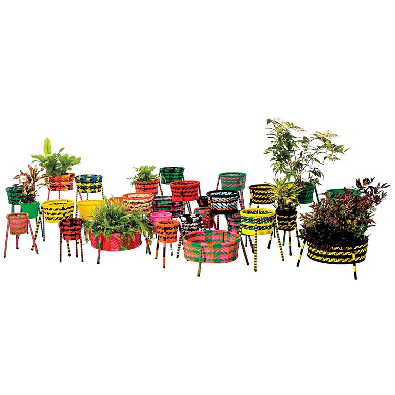 Jardin suspendu woven baskets planters for indoor and for Jardin suspendu