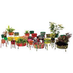 Moroso Jardin Suspendu Woven Baskets / Planters for Indoor and Outdoor