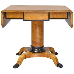 Swedish Karl Johan Empire or Biedermeier Writing/ Sofa Table in Birch